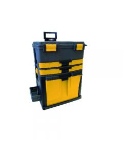Maurer trolley porta utensili e attrezzi 3 in 1 in acciaio e polipropilene con maniglia e ruote. Dimensioni mm 580 x 345 x h 670.