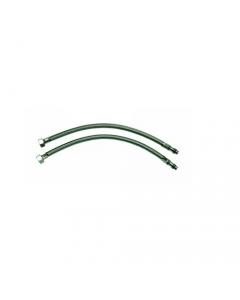 """Maurer tubo flessibile in acciaio per rubinetto  miscelatore femmina 3/8"""" x maschio 10-1 - blister da 2 pezzi"""