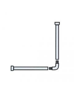 Maurer tubo per tenda doccia cm 80 x 80 in alluminio verniciato bianco