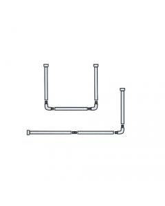 Maurer tubo per tenda doccia tipo universale cm 80 x 80 cm 80 x 80 x 80 cm 80 x 170 in alluminio verniciato bianco