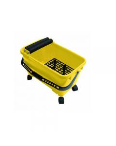 Maurer vaschetta per pulire pulizia piastrelle capacità 24 litri. 2 rulli + 2 rotelle trasporto. mm 500 x 270. 4 pezzi