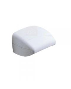 Metaform Evy porta rotolo carta igienica da bagno in abs colore bianco cm 14 x 13 x h 9