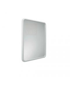 Metaform Linea specchio rettangolare per il bagno in durolite colore bianco dimensioni cm 56 x h 68