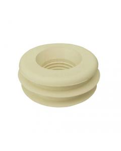 Morsetto per collegamento scarico wc water. In gomma bianca. Adatto per vasi in ceramica con foro di ingresso acqua di diametro mm 50. Dimensioni morsetto mm 50 x 30. 25 pezzi.