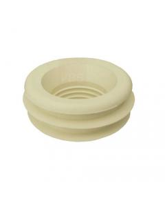 Morsetto per collegamento scarico wc water. Tipo standard. In gomma bianca. Adatto per vasi in ceramica con foro d'ingresso di acqua di diametro mm 60. Dimensioni morsetto mm 60 x 30. 25 pezzi.
