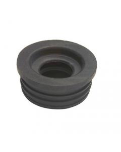 Morsetto per curva tecnica tipo universale. In gomma morbida nera per il collegamento di utenze ad impianti di scarico. 25 pezzi