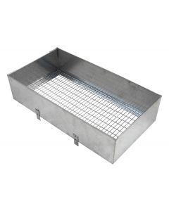 Nido interno per gabbia per conigli in lamiera zincata cm 23 x 37 x h 14