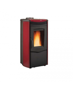 Nordica Extraflame Melinda Steel Air stufa a pellet cm 53 x 59 x h 105 colore bordeaux