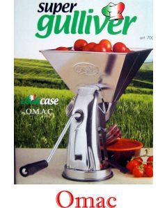 Omac Super Gulliver spremipomodoro manuale a mano in acciaio inox