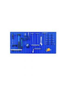Pannello porta utensili forato in lamiera verniciata cm 50 x 98. Ideale per officine, garage, bricolage. Disponibile in colore bianco, rosso, blu. 5 pezzi.