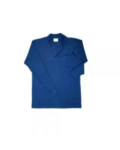 Papillon abbigliamento da lavoro per edilizia polo maniche lunghe colore blu navy 100% in cotone