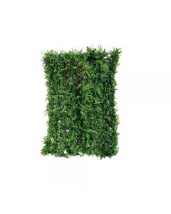 Papillon arella sintetica frange di foglia. Schermatura totale composta da foglie in tessuto plastificato, colore verde bitono, sostenute da una rete con fili in metallo plastificato. Ideale per ricoprire balconi. EAN 8000071931403