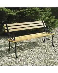 Papillon Boulevard panchina per giardino cm 122 x 56 x h 66 in legno eucalipto e ghisa