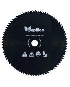 Papillon disco 80 denti per decespugliatore mm 255 per taglio arbusti in legno canneti sottobosco sterpaglia nodosa