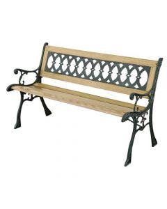 Papillon Eldorado panchina per giardino cm 126 x 52 x 73 in legno e ghisa
