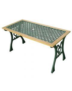Papillon Eldorado tavolino rettangolare da giardino cm 115 x 56 x 58 in ghisa e legno