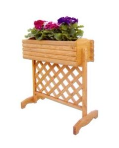 Papillon fioriera in legno pensile con pannello grigliato per terrazzo balcone giardino cm 74 x 35 x h 81. EAN 8000071968772