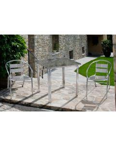 Papillon Happy Hour sedia in alluminio con braccioli per giardino terrazzo bar locali pubblici