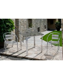 Papillon Happy Hour tavolo quadrato da giardino e terrazzo in alluminio cm 60 x 60 x h 70 impilabile. EAN 8000071949781