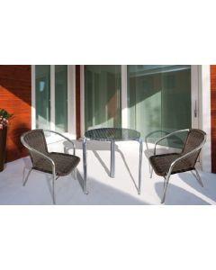 Papillon Happy Hour sedia con braccioli da giardino in polyrattan colore marrone