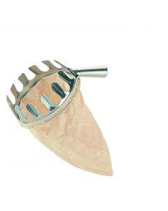 Papillon raccoglifrutta a cestello fornito senza manico.