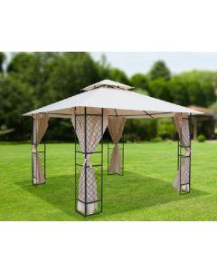 Papillon Sagres gazebo per giardino e esterno metri 3,4 x 3,4 x h 2,6 con tende parasole