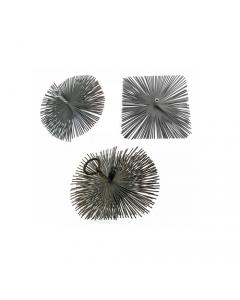 Papillon scovolo in acciaio per pulizia canna fumaria in piattina acciaio attacco femmina 12 MA