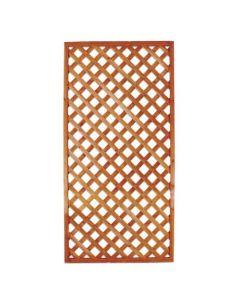 Papillon separè divisorio pannello rettangolare a griglie diagonali per giardino e terrazzo