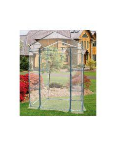 Papillon serra da giardino con copertura in pvc trasparente 4 ripiani cm 195