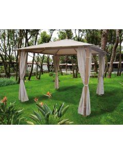 Papillon Tavira gazebo per giardino ed esterno con tende parasole metri 3 x 3 x h 2,5