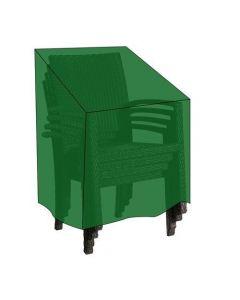 Papillon telo di copertura per sedie impilabili cm 66 x 66 x h 76/106. Telo in polietilene. Con occhielli in alluminio e cordoncino in nylon per il fissaggio. Codice EAN 8000071949873.