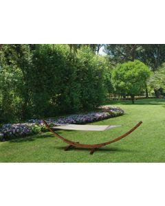 Papillon Tindari amaca con supporto in legno di larice colore cappuccino. Codice EAN 8000071990486