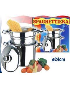 pentola per spaghetti con scolapasta pastaiola cuoci pasta e verdura lessi cesto