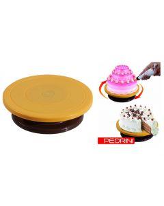 Piatto girevole decoratore per torte diametro cm 28 x h 7