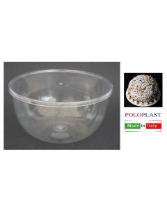 Poloplast contenitore per zuccotto trasparente con coperchio. Confezione 3 pezzi. Dimensioni disponibili del contenitore: diametro cm 9,8 x h 5,5; diametro cm 15,5 x h 8,5; diametro cm 16,5 x h 8,5.