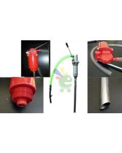 pompa manuale a stantuffo portata 60 litri / minuto per fusto fusti travaso gasolio benzina olio nafta