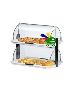 porta pane dolci brioche cornetti vetrinetta da bar pasticceria a due piani doppia espositore biscotti