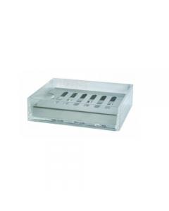 Porta sapone da bagno contenitore in plastica trasparente base in acciaio cromato cm 9 x 12 x h 3