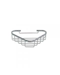 Portaoggetti ad angolo per il bagno in acciaio inox cromato cm 17 x 17 x 5,5