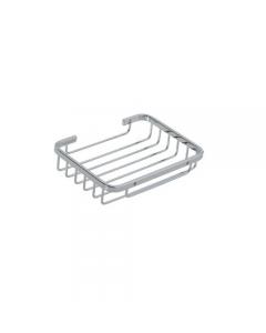 Portaoggetti da bagno in acciaio inox cromato cm 16 x 12 x 3,5