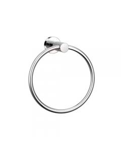 Portasciugamani ad anello in acciaio cromato mm 160 x 70 x 175