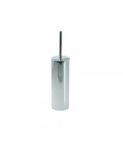Portascopino per il bagno in acciaio inox cromato cm 7,5 x 22