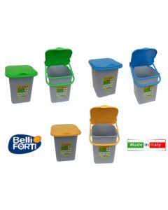 Belli e Forti Premì pattumiera per rifiuti 18 litri disponibile in 3 colori