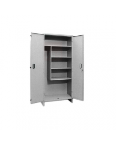Pro Metal armadietto portascope tipo alto in lamierato d'acciaio verniciato grigio