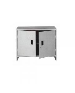 Pro Metal armadio mini con 2 ante in lamierato d'acciaio verniciato grigio. Dimensioni armadio cm 80 x 40 x h 80. Peso kg 16