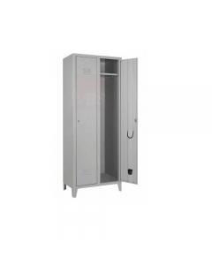 Pro Metal armadio spogliatoio 2 posti cm 34 x 68 x h 180 con serratura in lamierato d'acciaio verniciato grigio