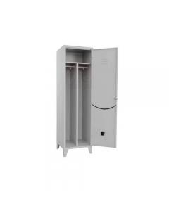 Pro Metal armadio spogliatoio sporco pulito 1 posto 1 anta cm 50 x 50 x h 180 in lamierato d'acciaio verniciato grigio