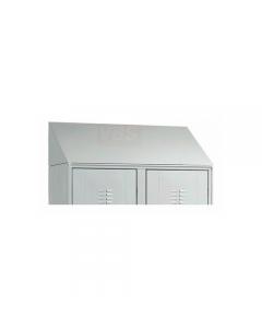 Pro Metal tetto inclinato per armadio e sporco / pulito in lamierato d'acciaio verniciato grigio