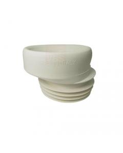 Prolunga wc eccentrica in gomma bianca si utilizza per innalzare l'innesto dello scarico della tazza wc misura nominale 110 mm