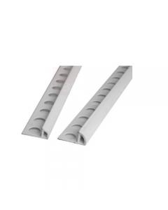 Proteggiangolo profilo Jolly in Pvc bianco. Indispensabile a rafforzare il bordo di piastrelle e prevenire rotture e scollature